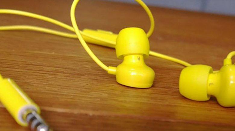 Бесплатная проводная гарнитура Nokia WH-208 желтого цвета от компании Nokia в подарок