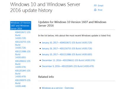 Последнее обновление ОС Windows 10 Mobile