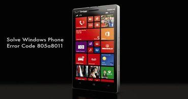 Решаем проблемы с ошибкой 805a8011 на Windows Phone