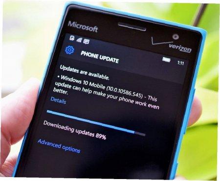 Особенности обновления Windows 10 Mobile