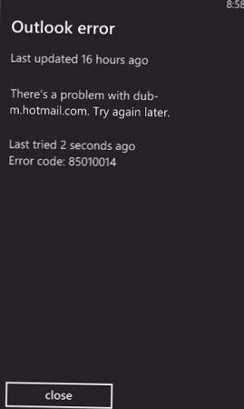 85010014 Windows Phone: из-за чего всплывает ошибка, и как ее исправить